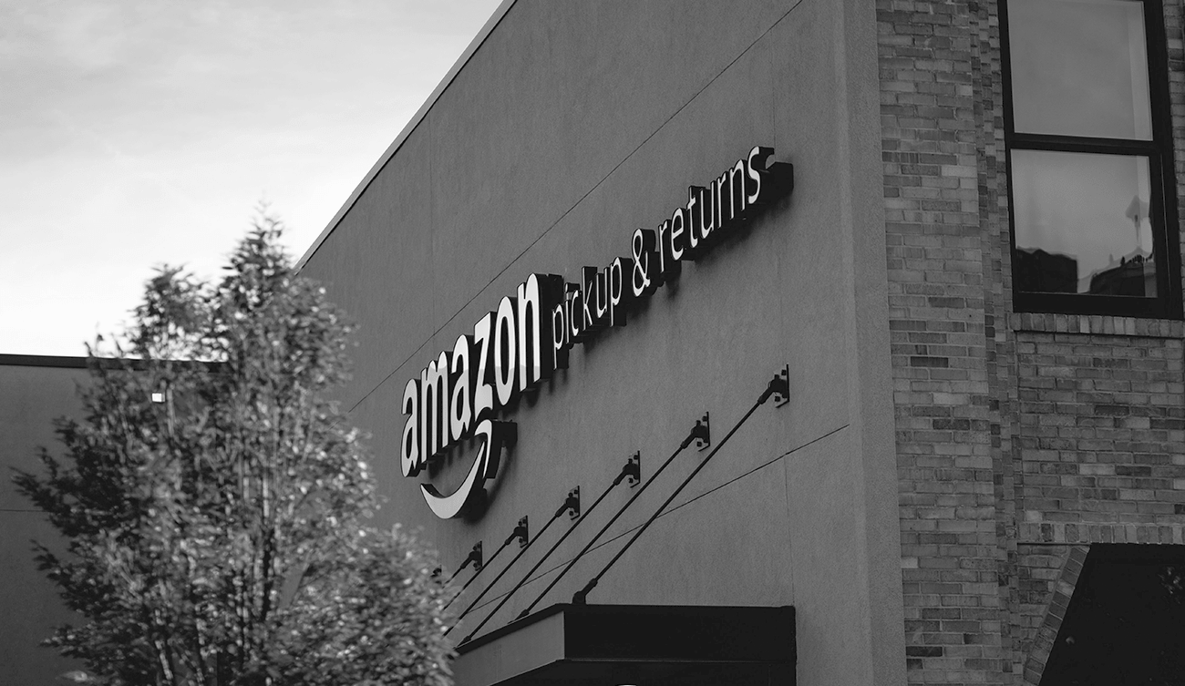 An Amazon warehouse for receiving packages and increasing online sales growth.